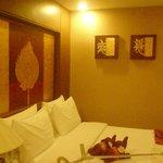 silk elephants on the bed : )