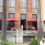 Front Entry of Cafe Botero, off Plaza Botero
