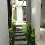 walkway into villa