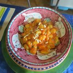 Gnocchi with pine nuts and tomato sauce