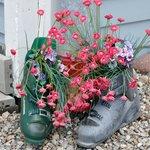 Ski boot planters