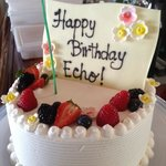 "a special ""tour birthday cake from the Kahala!"