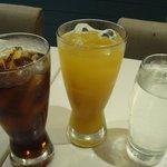 pepsi and orange juice