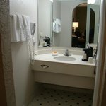 Vanity area in room 108