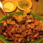 Grilled Shrimp & Chicken Nachos