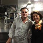 Bruno Oger, Maitre des lieux, dans ses cuisines, après le service. 12 janvier 2013.