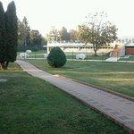 Parco che conduce alle Terme.