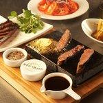 Sizzling steak at Steak & Co