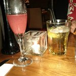 Our Drinks - 'Pink Blossom' £3.90 & 'Jack your body' Jack Daniels with Disaronno £3.85