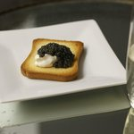 Caviar and Creme Fraiche Botanical Tasting