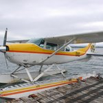 The little floatplane before takeoff
