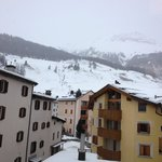 View from the room towards the start of the Celerina-Marguns gondola