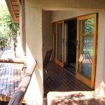 Terrasje voor kamer