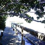 walkway to pier for swiming fishing rafting acess