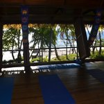 Yoga Studio! Sometimes the waves make it hard to hear Ireni!