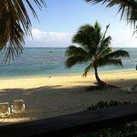 spiaggia davanti al bungalow