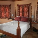 Our room in the stone thatched roof cottage