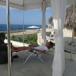 Open air reflexology treatment with Peter