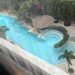 Pool vom Zimmer aus gesehen