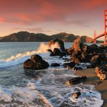 sunset over GGB- must do while staying here!