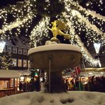 Christmas market - with Goslar Eagle fountain