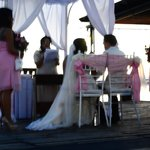 Wedding Ceremony Progress near the Lake