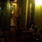 Gemütliche Abendstunden im Atrium