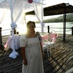 My wife who officiated the wedding ceremony