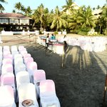Wedding and Receotion Area on the beach besides the Taal Lake
