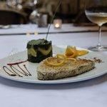 ''Precious Blue'', Tuna Steak in sesame seeds