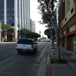 Looking towards the continent in Santa Monica Blvd
