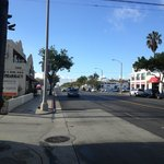 Looking towards the beach in Sta Monica Blvs.