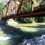 the Harlequin Bridge along the Stehekin River