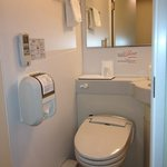 bathroom with heated toilet seat