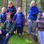 Maclellan Family do woodland walk by Loch Ness