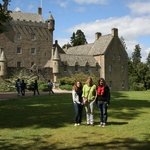 Cawdor Castle on a sunny day.