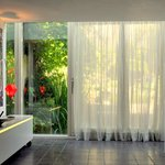 dining room with sliding doors to garden