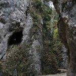 klätterställe några kilometer från zarnesti