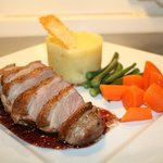 Pan Fried Buck breast in a Port Jus.