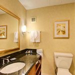 Enjoy all of the amenities and high end finishes you'd expect at our Fort Lee, NJ hotel.
