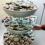 """Oysters for our """"Buck-a-Shuck"""" Wednesday nights."""