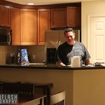 Kitchen (& hubby!)