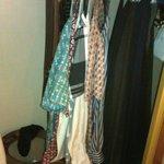 Roomy wardrobe.