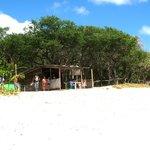 hut to get a beer on Madaras beach!