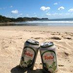 Cold Tona on the beach.. life is good!