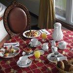Un petit déjeuner à la chambre