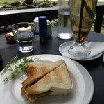A toasted sambo and iced tea combo ! perfect for a hot day.