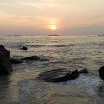 Sunset on Unawatuna Beach