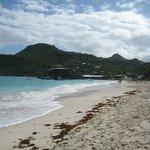 St Jean beach with Eden Rock Hotel