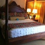 King Size Bed with Down comforter and Down pillows in One Bedroom Suite